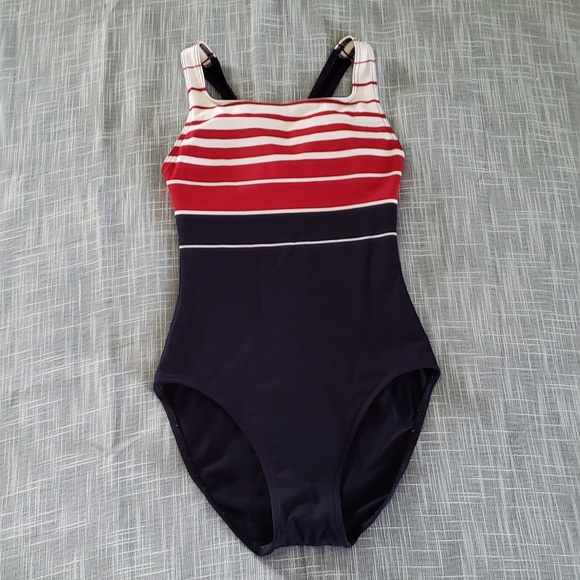 f660c7f0a2d L.L. Bean Other - LL Bean Size 8 Long One Piece Striped Swimsuit